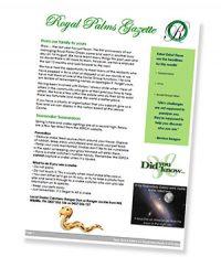 Royal Palms Newsletter